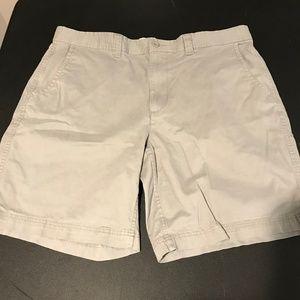 St Johns Bay Flat Front Shorts-Gray